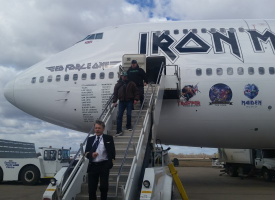 Platinum Limos was the limousine company of choice for Iron Maiden's transport for their concert in