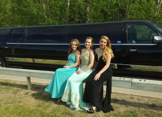 Platinum Limousines Midnight Black Navigator with some of Edmonton's newest Grads..May 2016