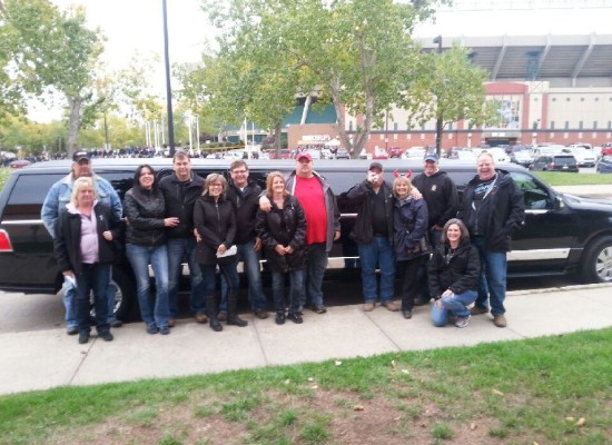 Some of our amazing clients ready to party at the ACDC concert